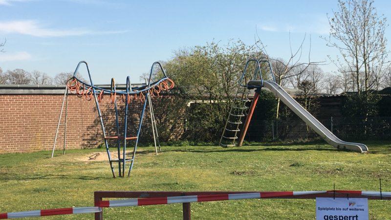 Ein Spielplatz am Heideweg in Wankum: Wir müssen an unserer Kommunikation arbeiten!